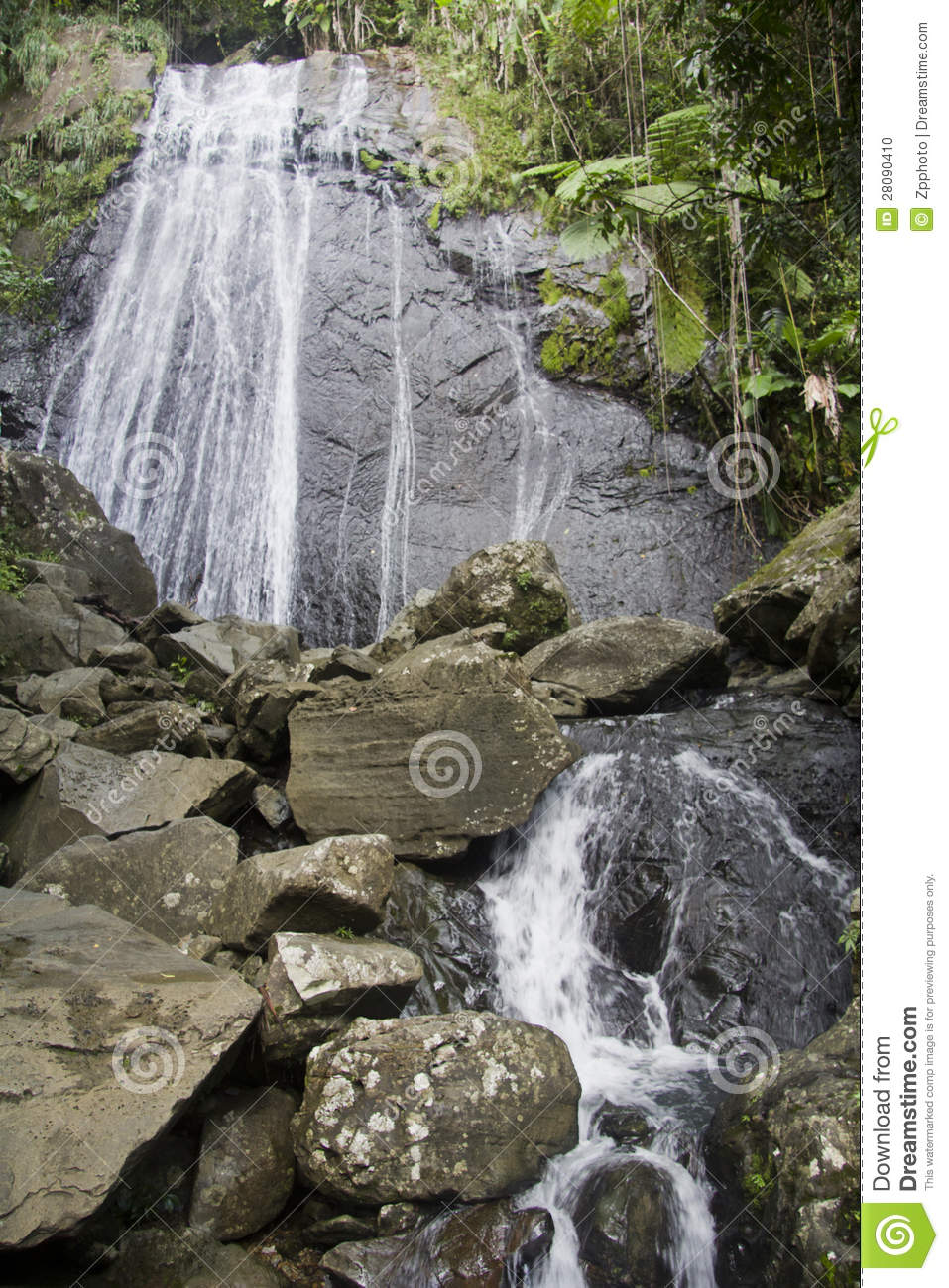Baño Grande Pool Puerto Rico:More similar stock images of ` Waterfall Puerto Rico `