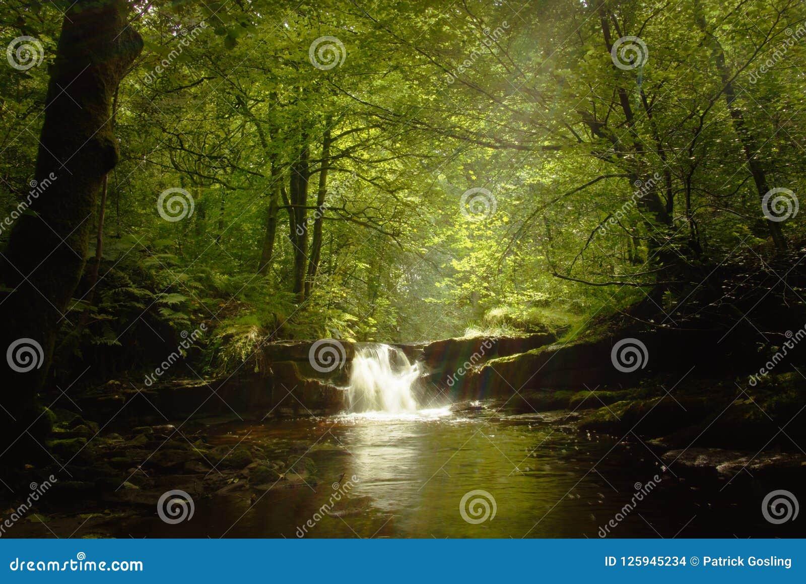 Waterfall after rain.