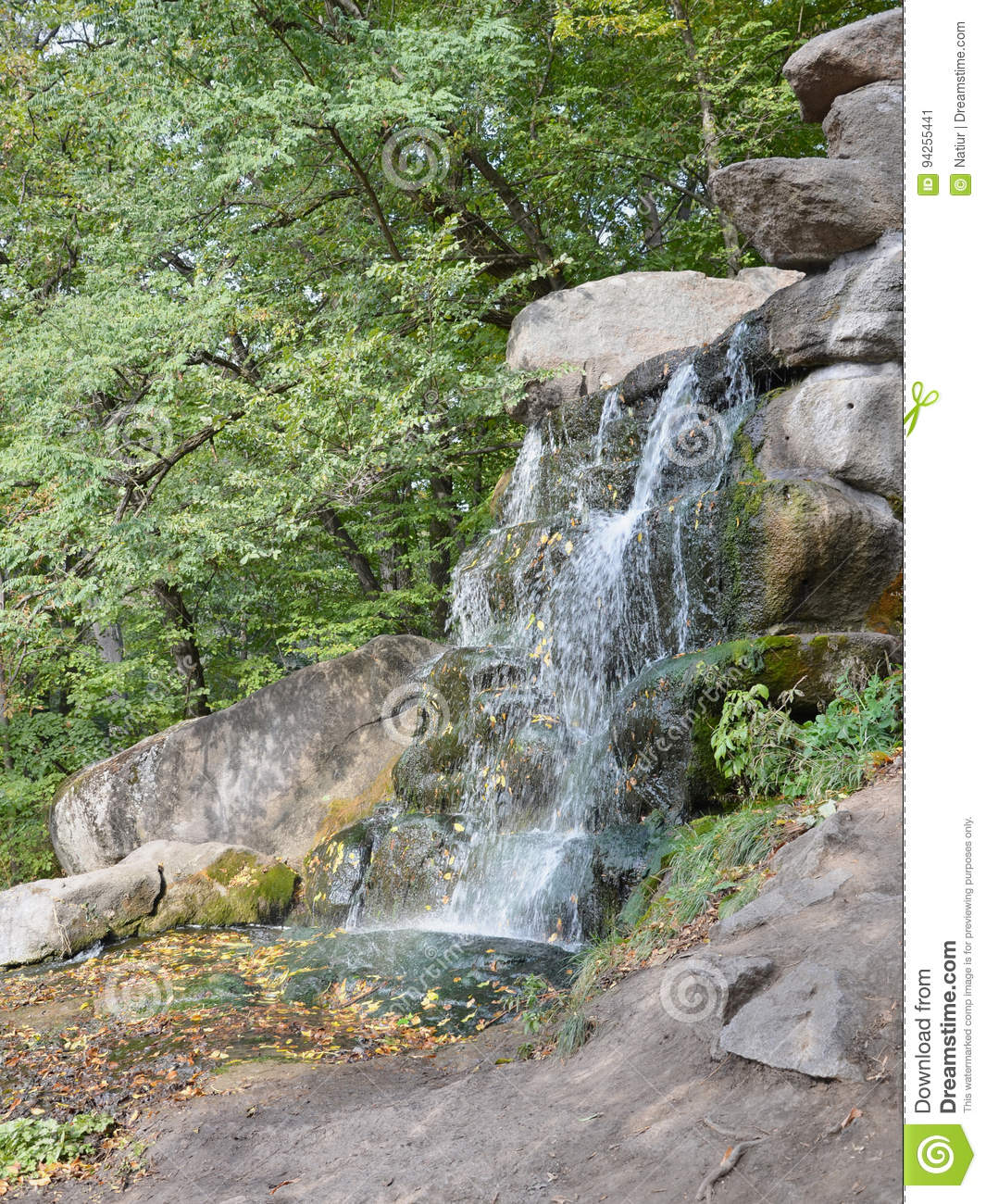Water Rushing Down Over Rocks Stock Photo Cartoondealer