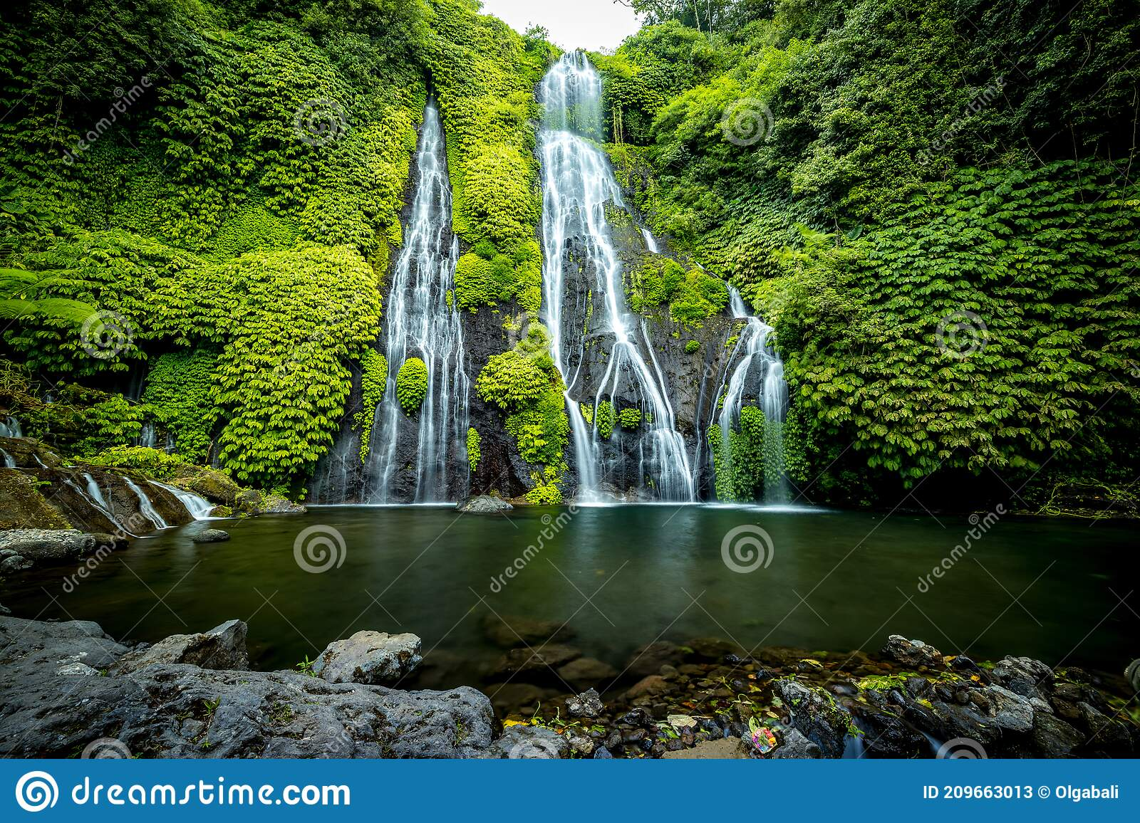Waterfall Scenery Tropical Landscape Nature Background Adventure And Travel Concept Natural Environment Slow Shutter Speed Stock Image Image Of Freshness Amazing 209663013