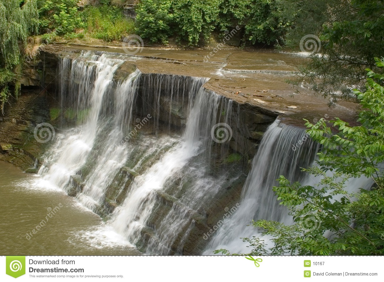 Waterfall, sharp water