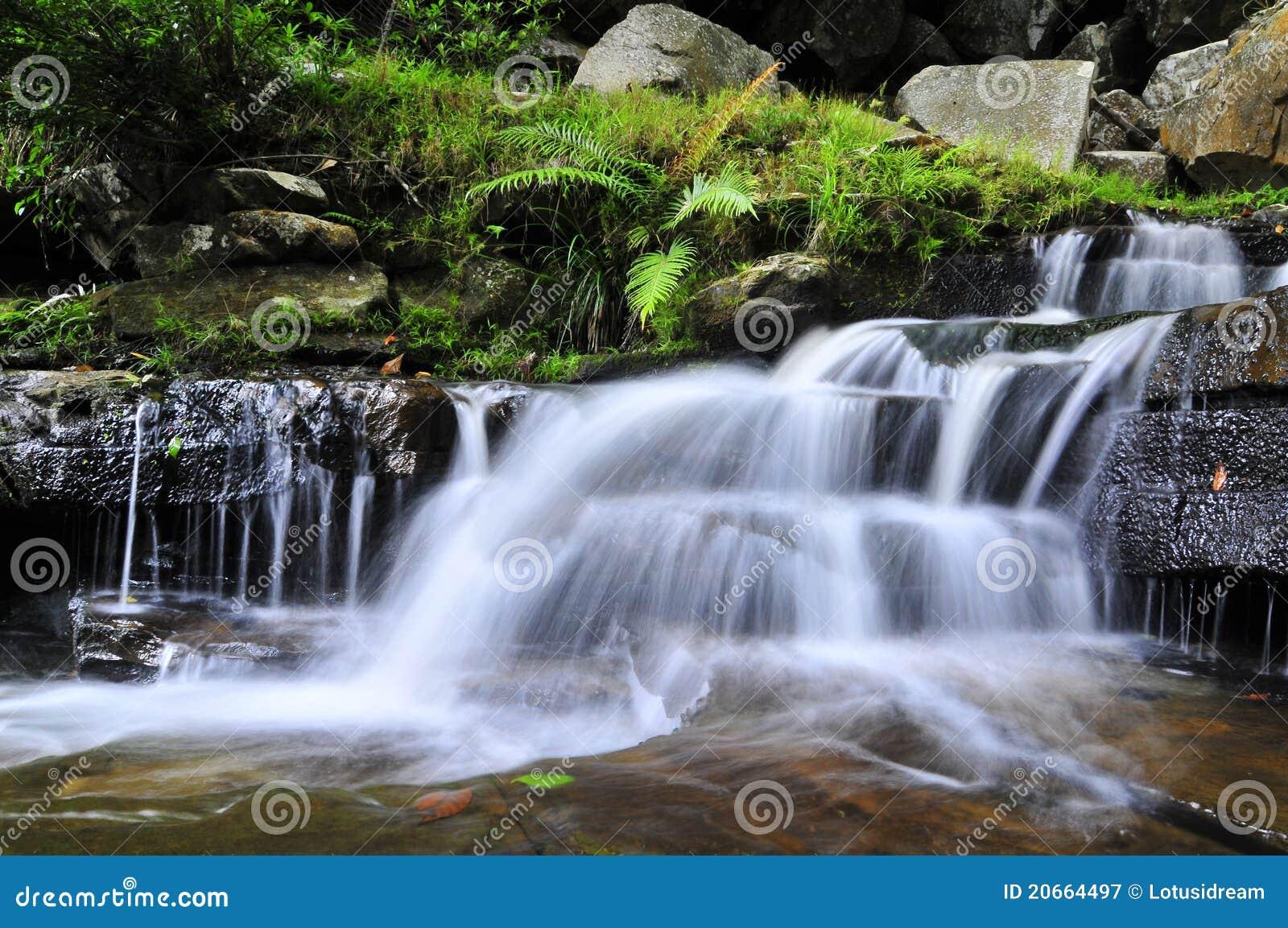 beautiful soft waterfall in - photo #2