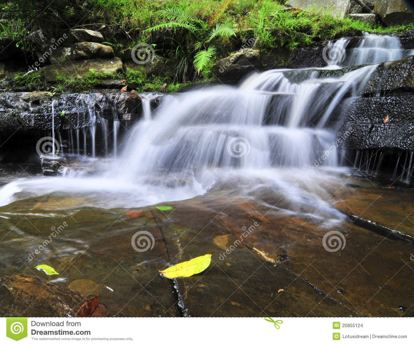 beautiful soft waterfall in - photo #4