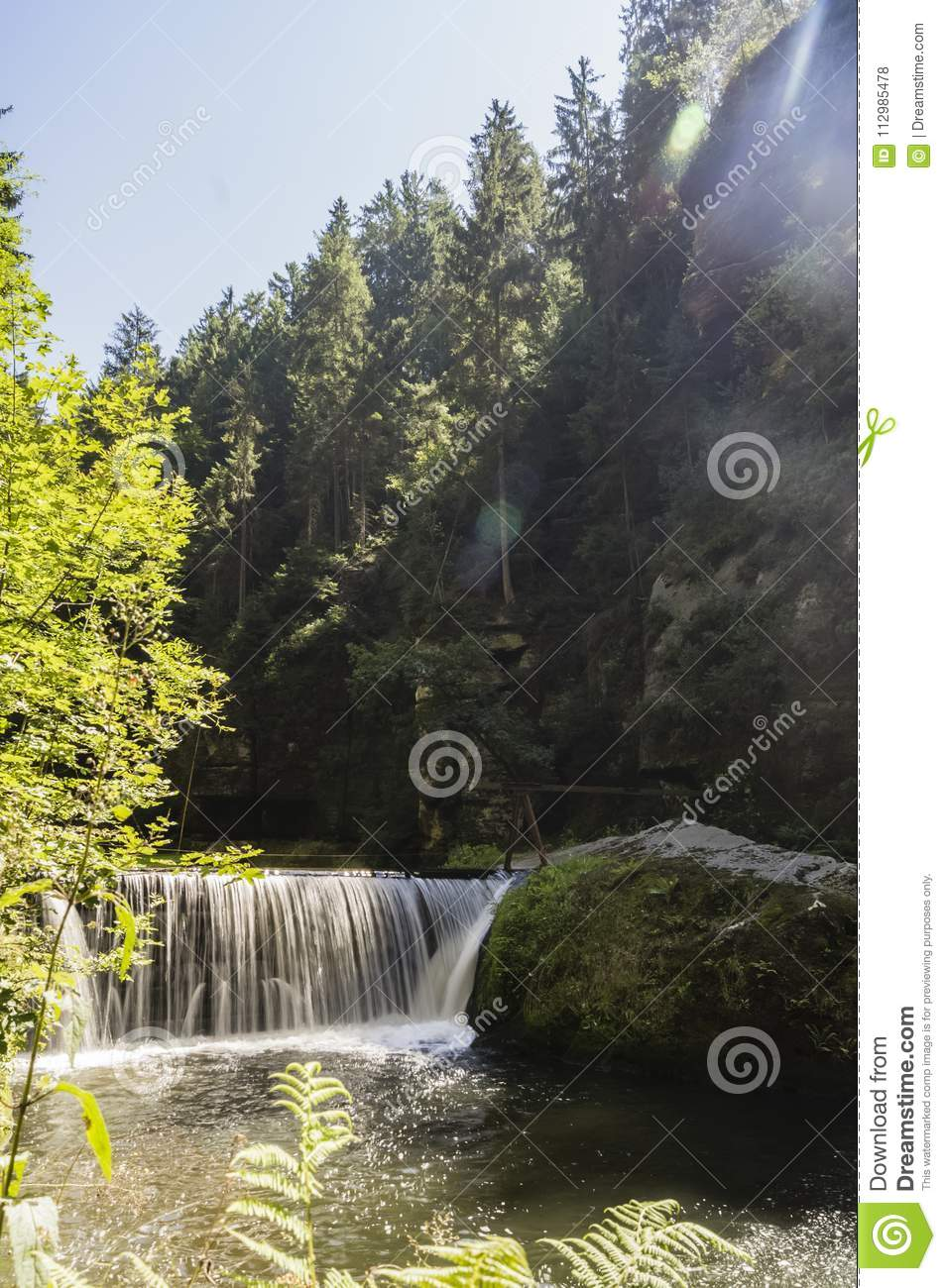 Waterfall in the sun