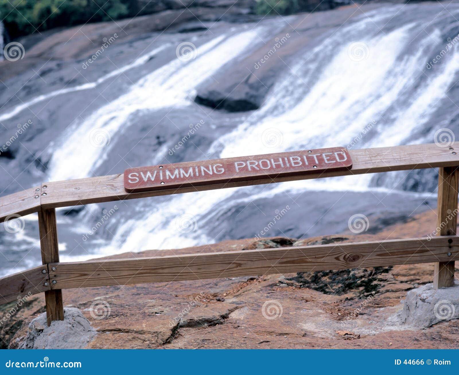 Waterfall warning sign