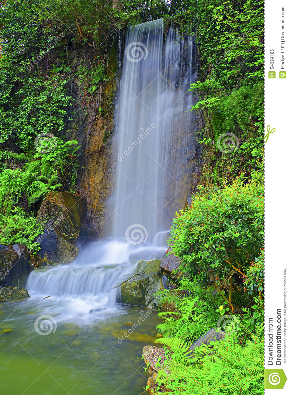 Waterfall in zen garden stock photo image 54394185 for Zen garden waterfall