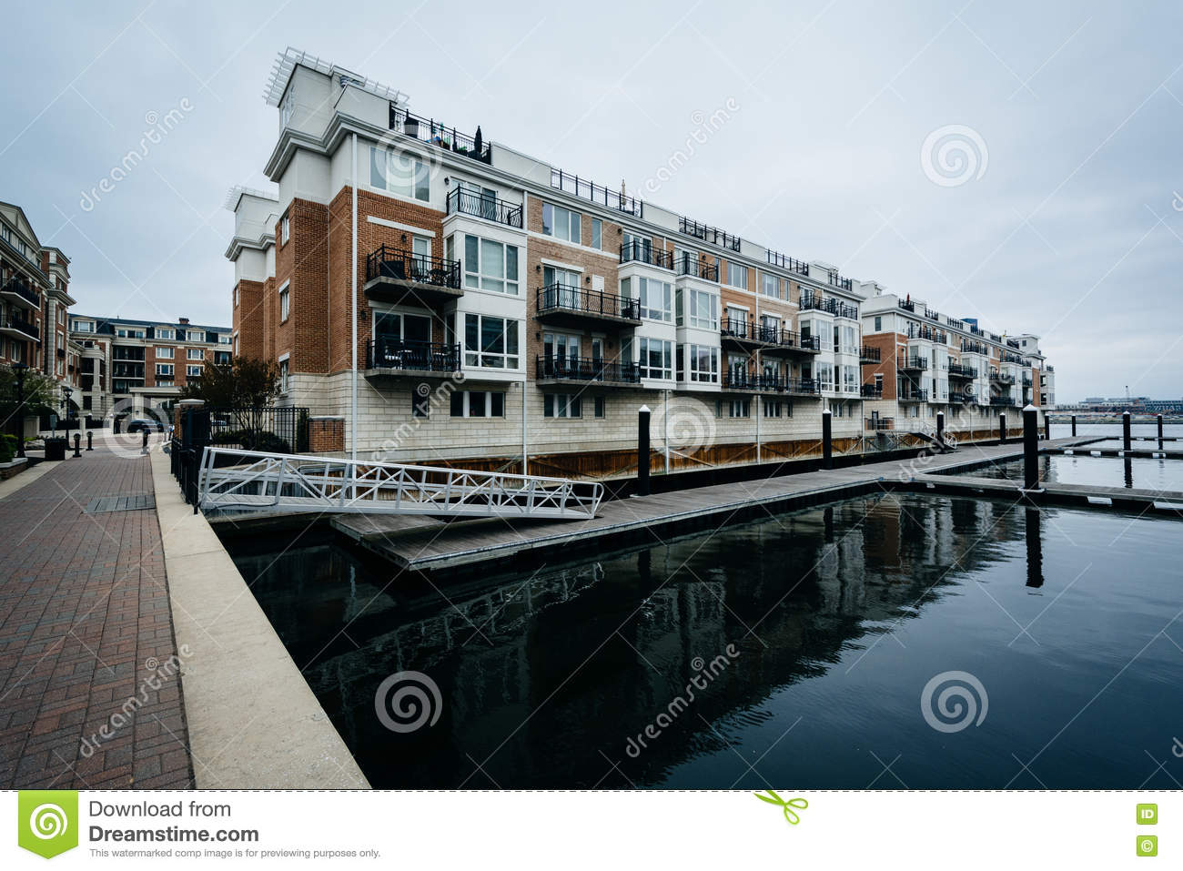 Wonderful Waterfront Apartment Buildings At The Inner Harbor, In Baltimore