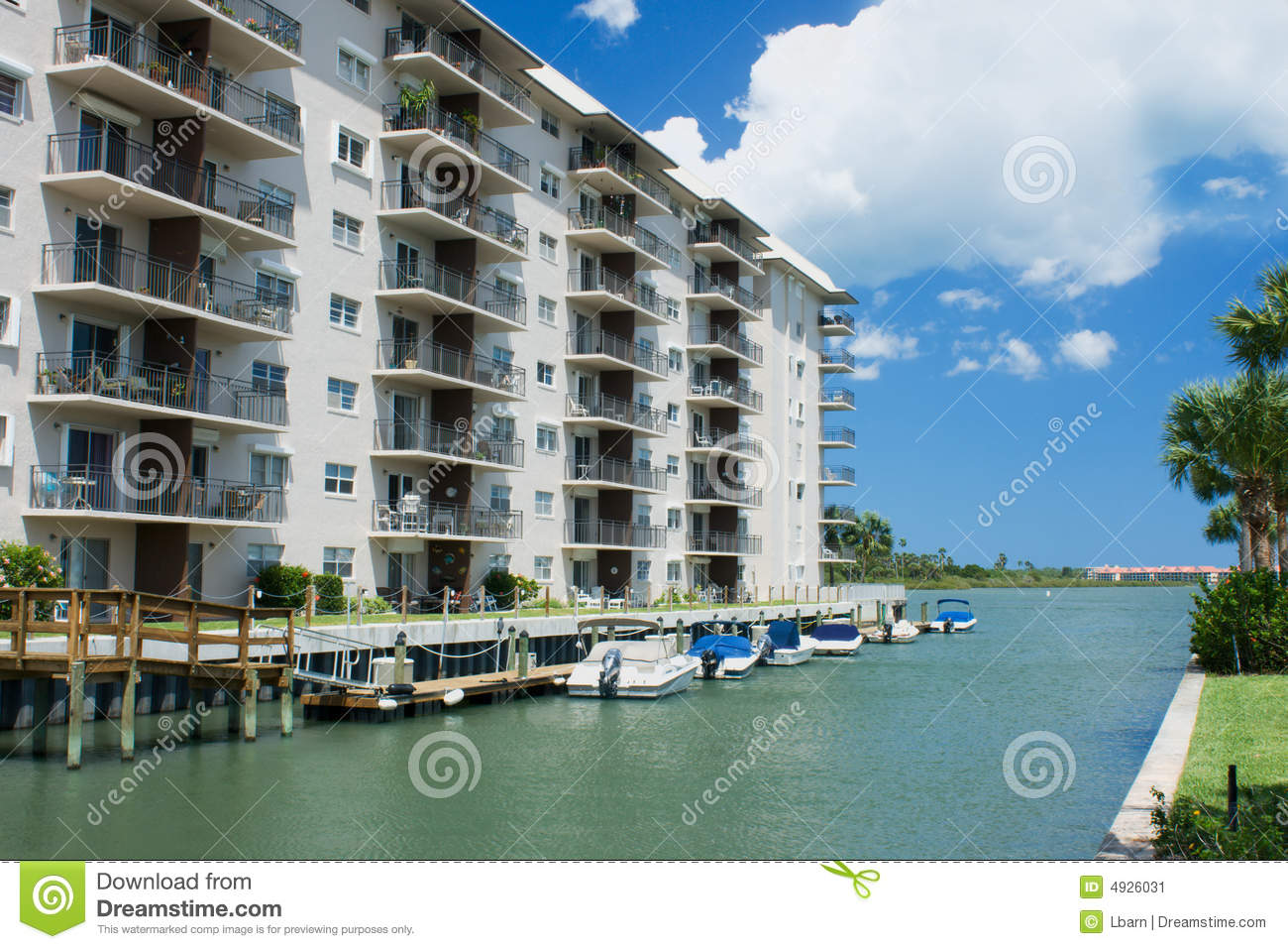 waterfront condo living stock image image 4926031
