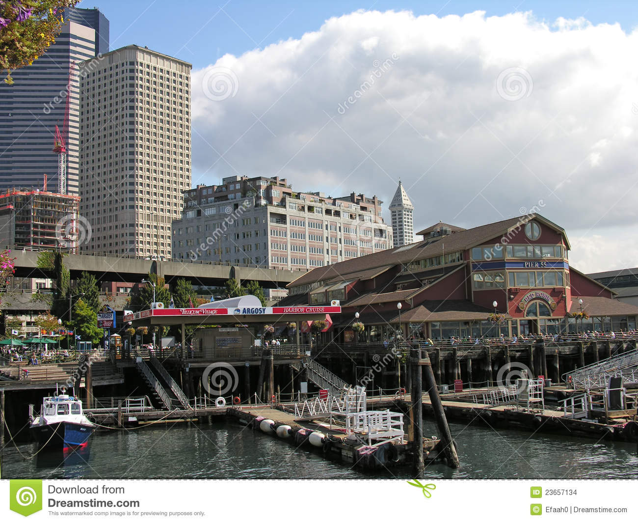 Waterfront And Downtown Seattle Wasington Editorial Stock Image Image 23