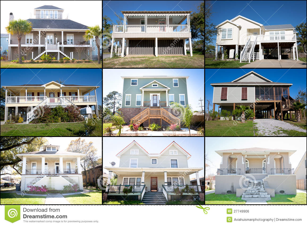 Waterfront Homes Collage Stock Photo Image Of Decoration