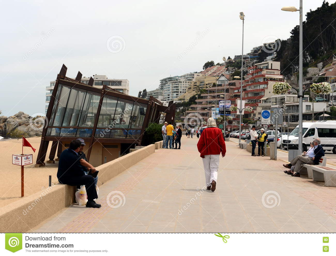 The waterfront in vina del mar editorial image for The fish market del mar