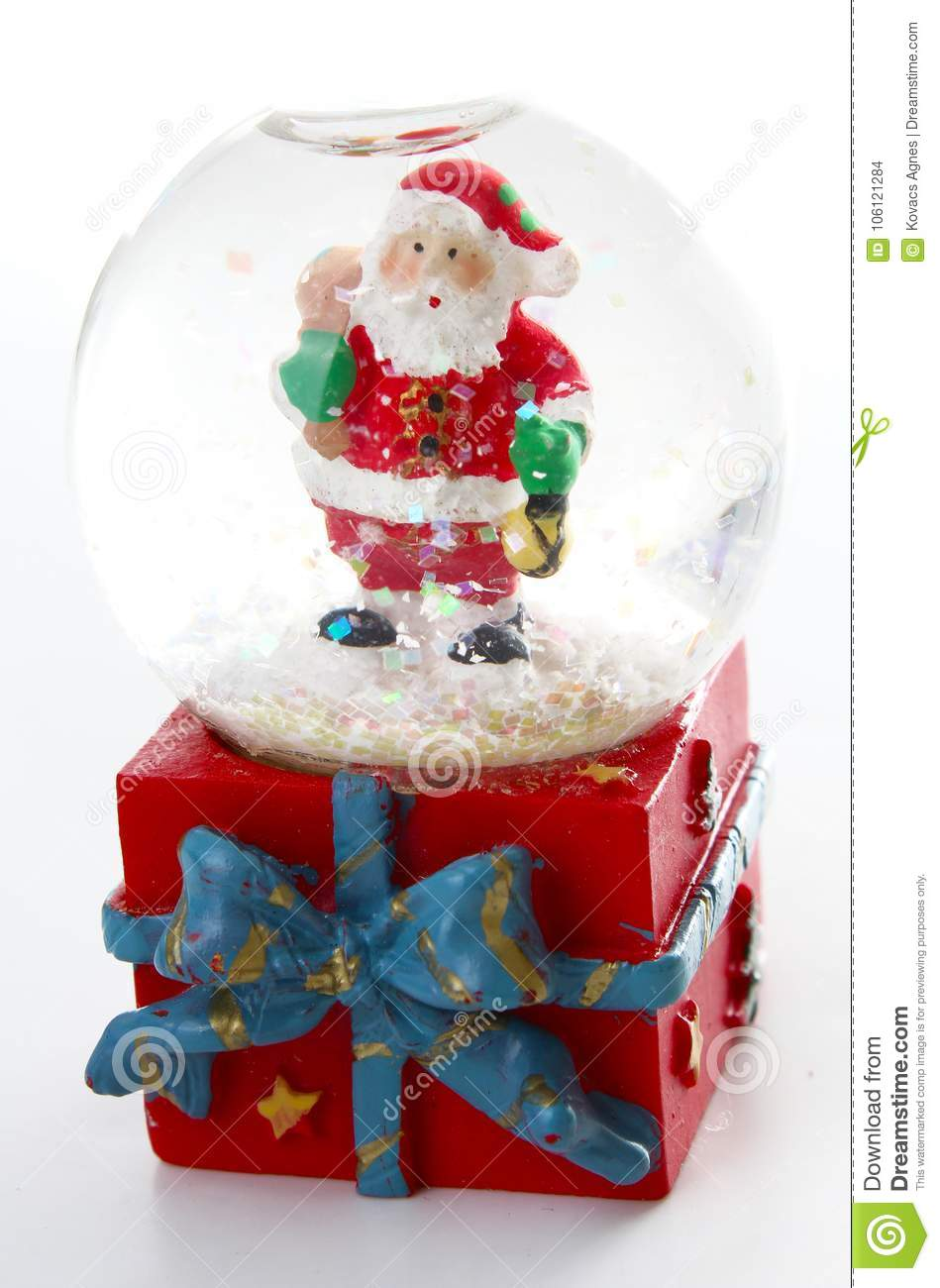 Waterglobe Christmas Waterglobe With Santa Claus Christmas Decoration Glass Ball Water Ball Globe With Snow And Santa Stock Photo Image Of Glass Water 106121284