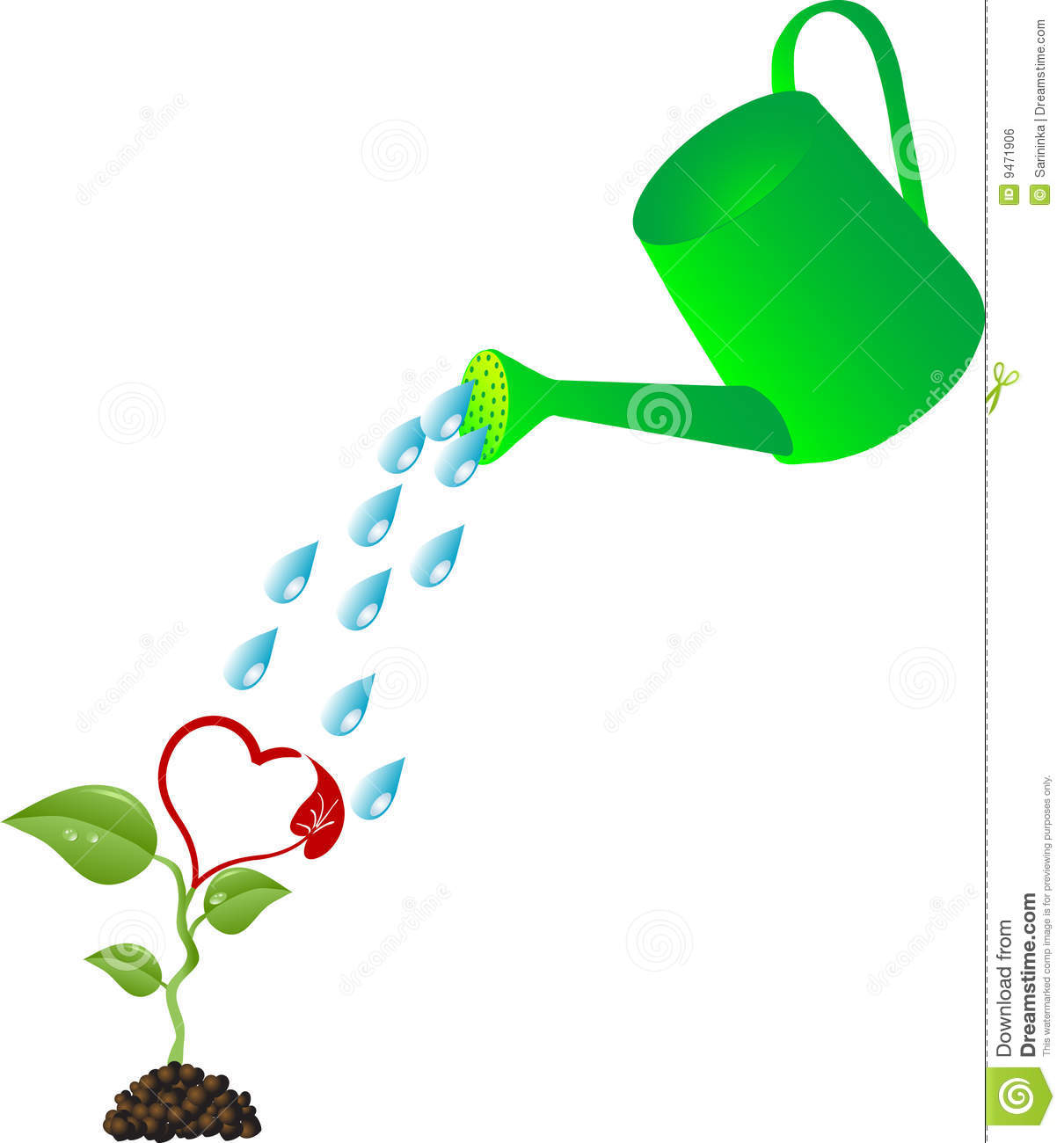 Watering Can Royalty Free Stock Image - Image: 9471906