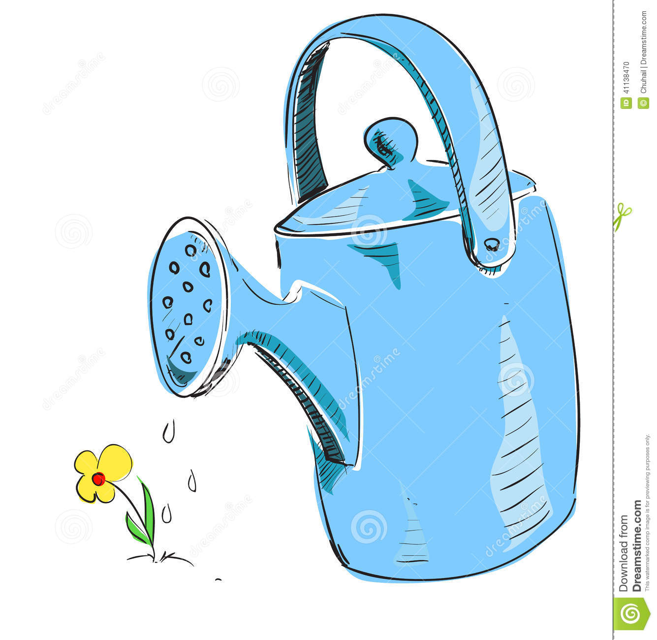 simple doodle of a watering can stock vector image 56206828