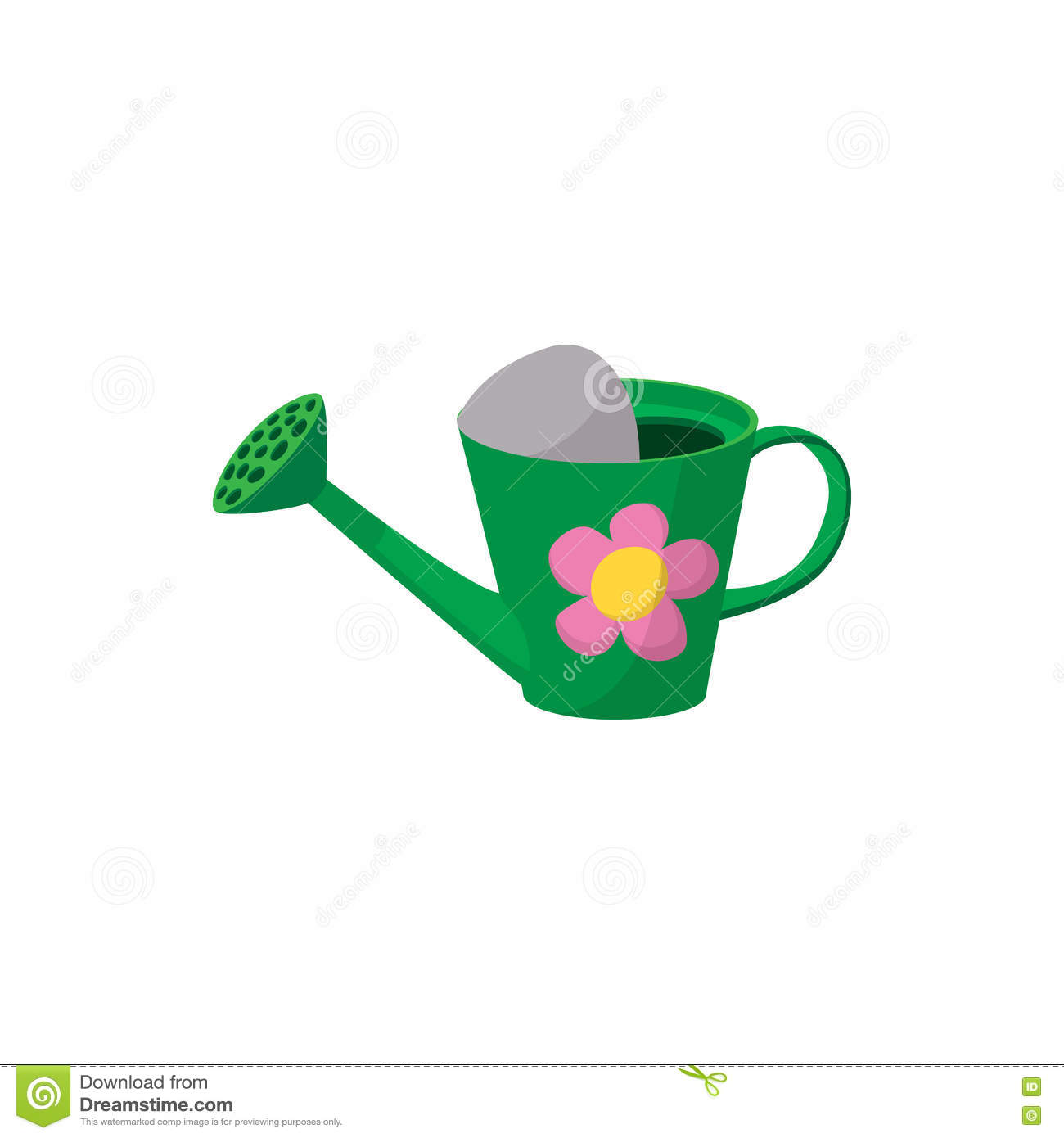 watering can cartoon icon stock vector image 41138470
