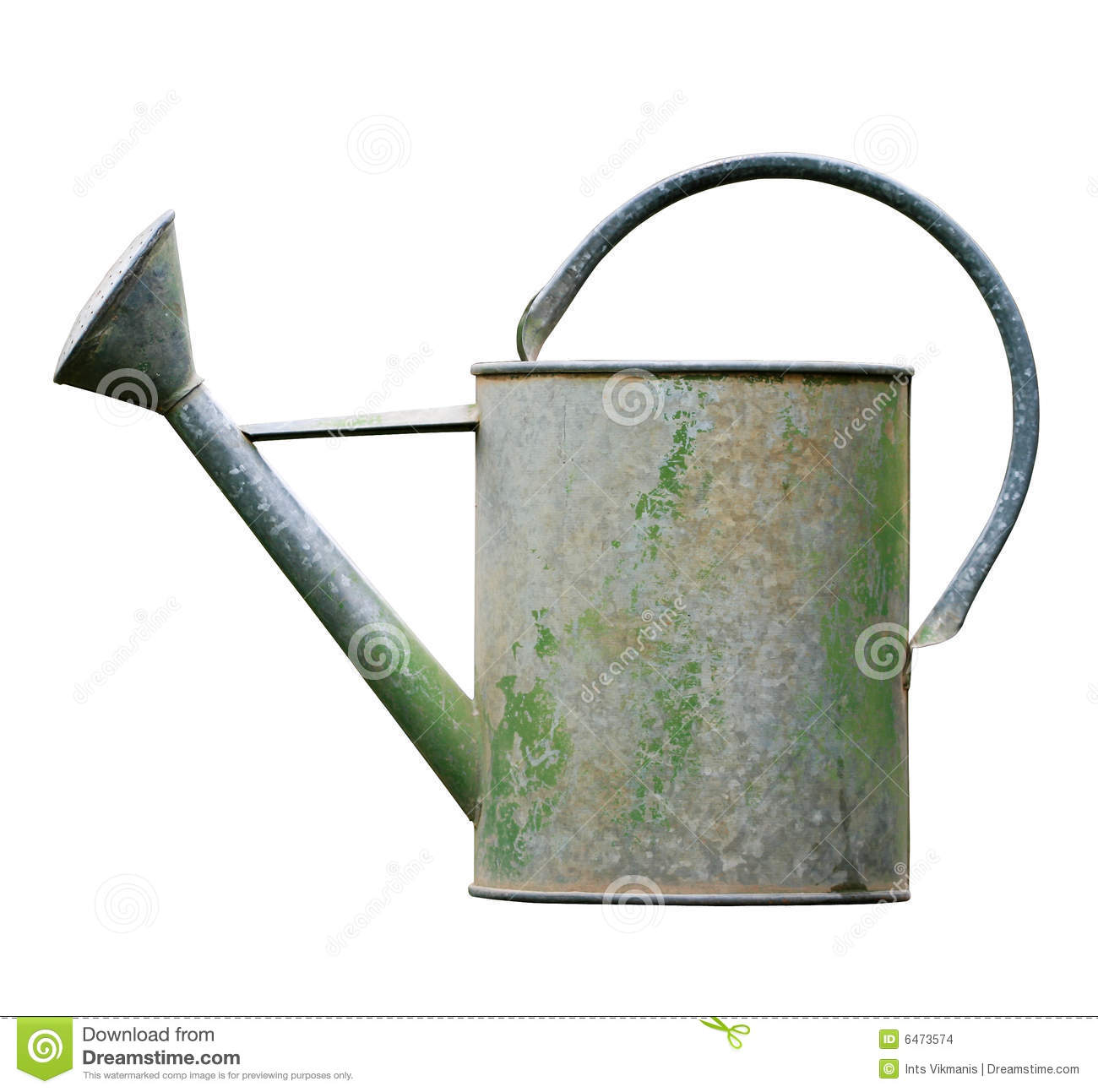 Watering Can Isolated On White Stock Images Image 6473574
