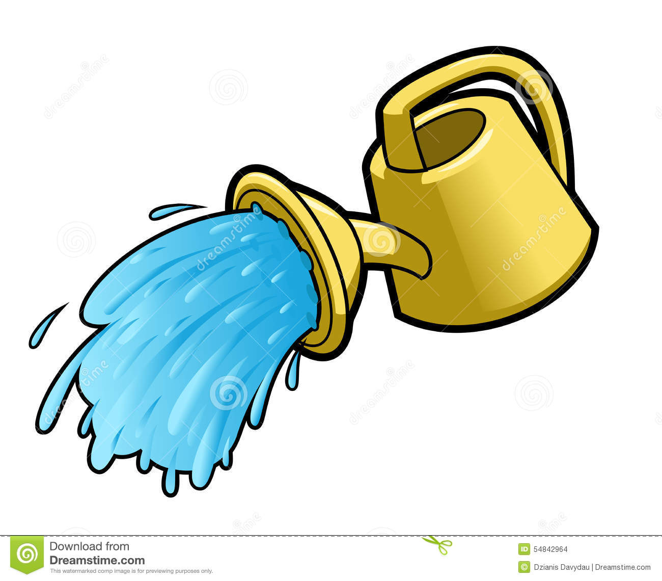 watering can pouring water stock illustration image 41282869