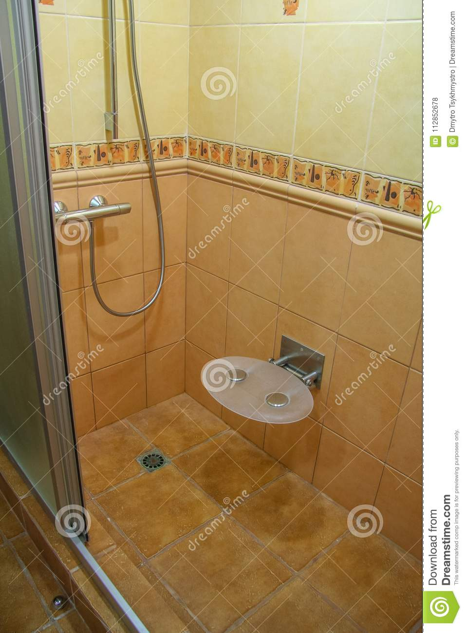 Watering can shower stock photo. Image of booth, tile - 112852678