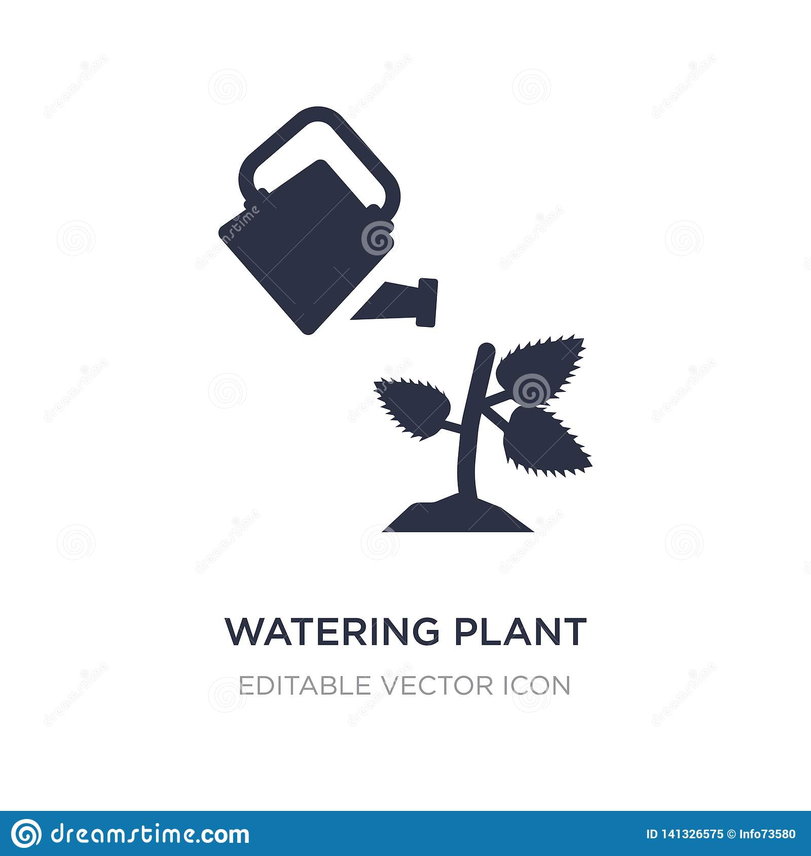watering plant icon on white background. Simple element illustration from Nature concept