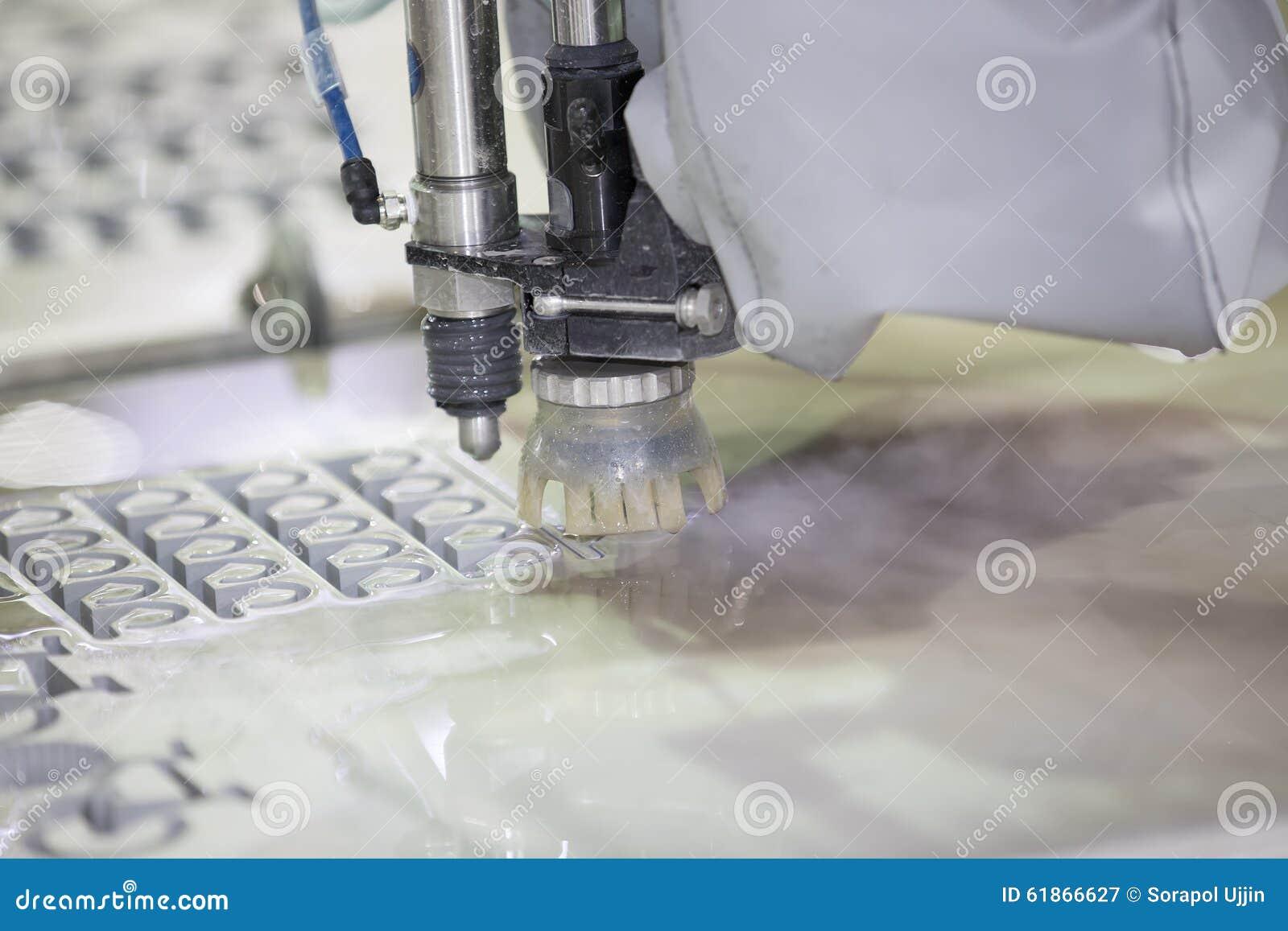 Waterjet Metal Cutting By Cnc Program Stock Image Image