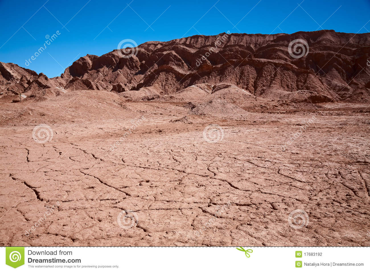 Waterless landscape in Moon Valley, Chile