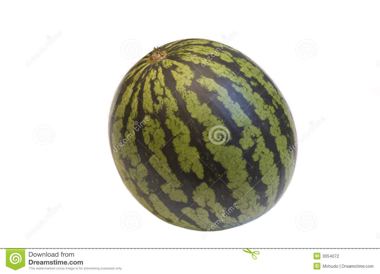 Watermeloen die op wit wordt geïsoleerde