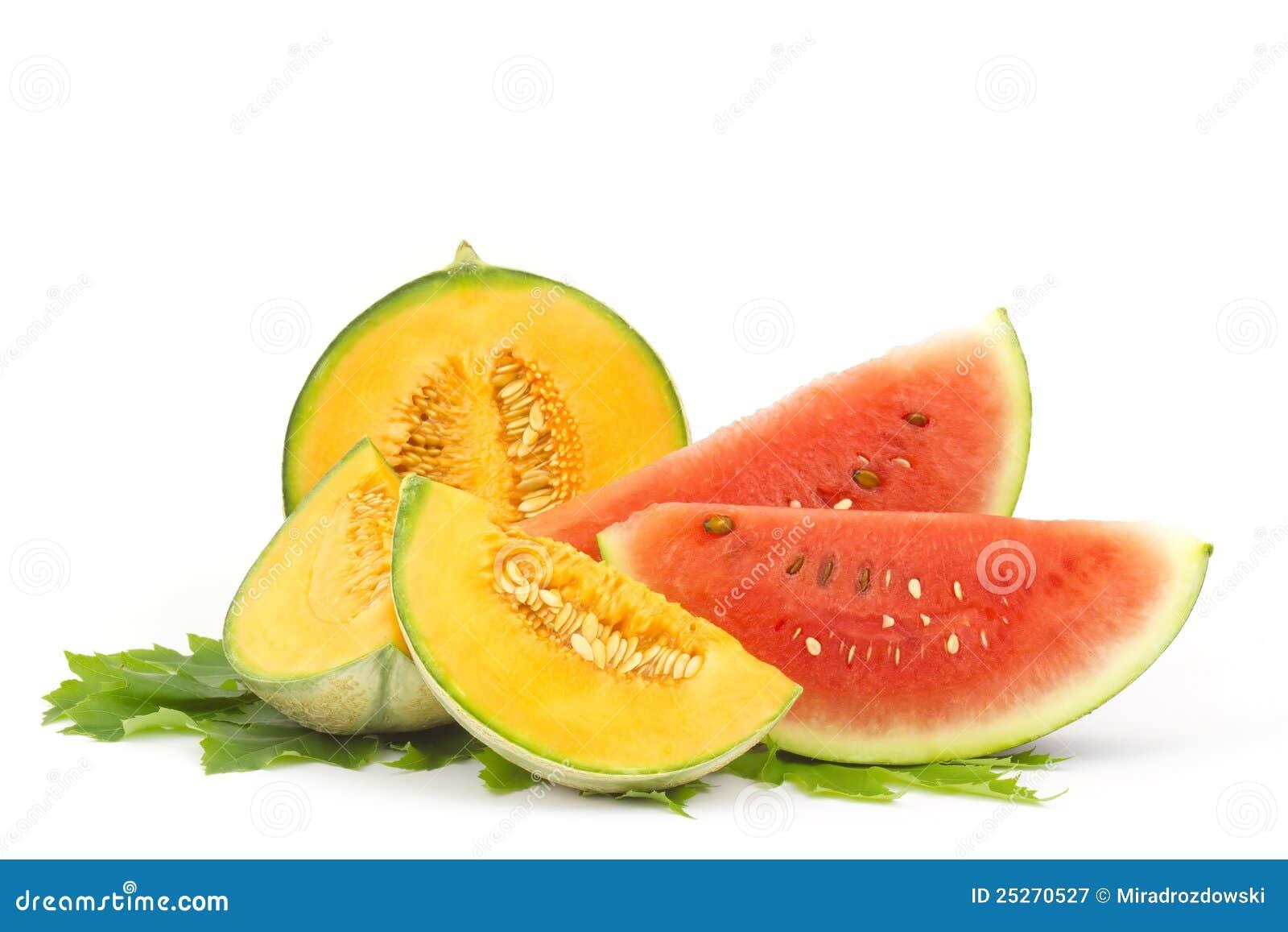 Watermeloen en kantaloepmeloen