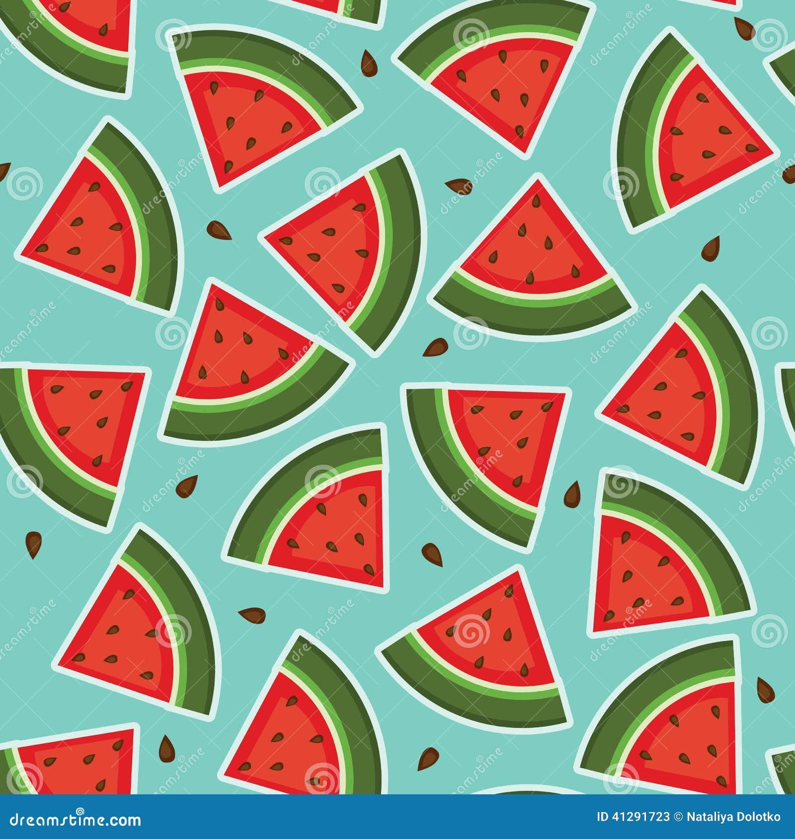 Watermeloen naadloos behang vector illustratie afbeelding 41291723 - Groen behang van het water ...