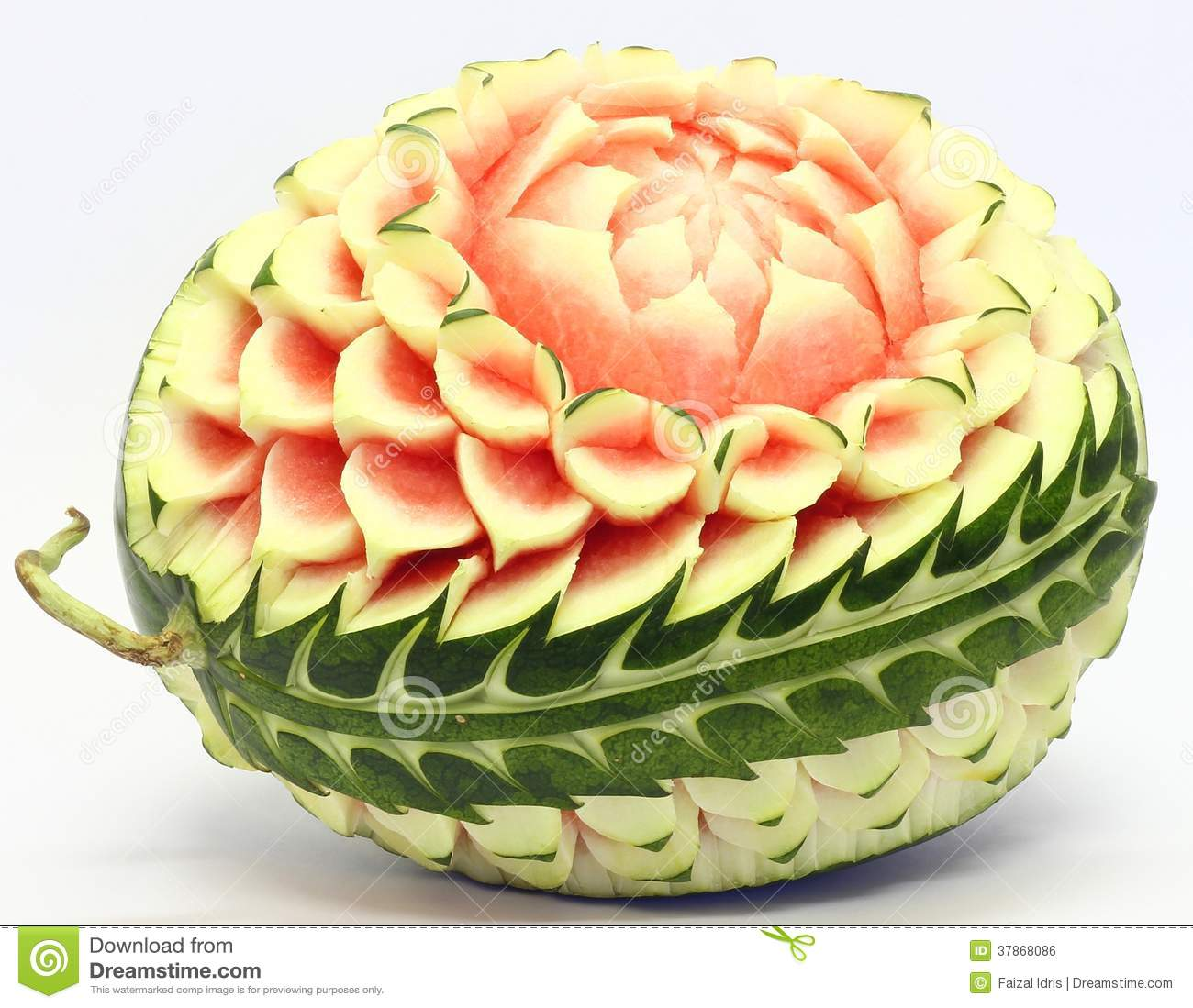 Watermelon asian fruit carving royalty free stock image