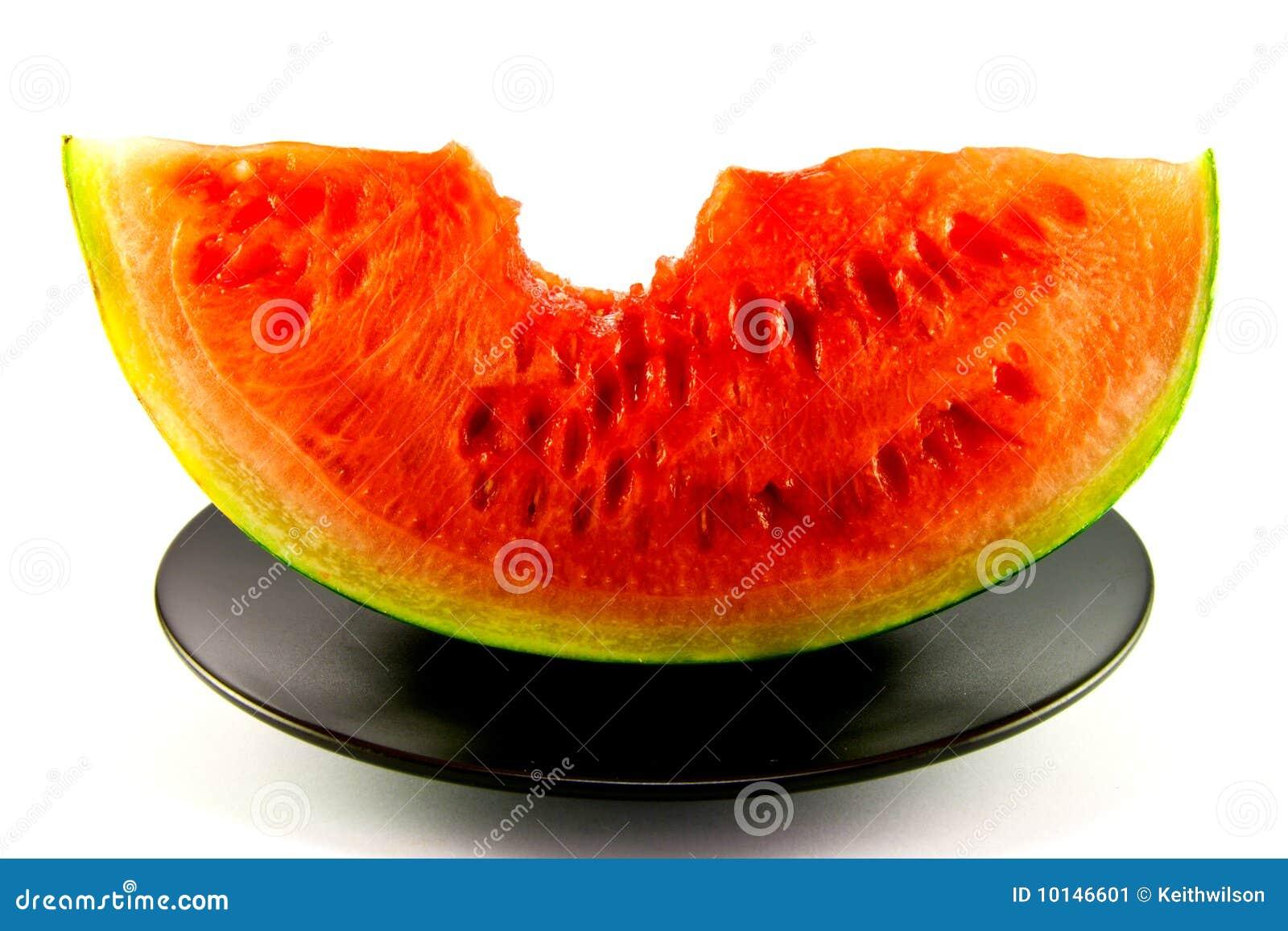 Watermelon with Bite Mark