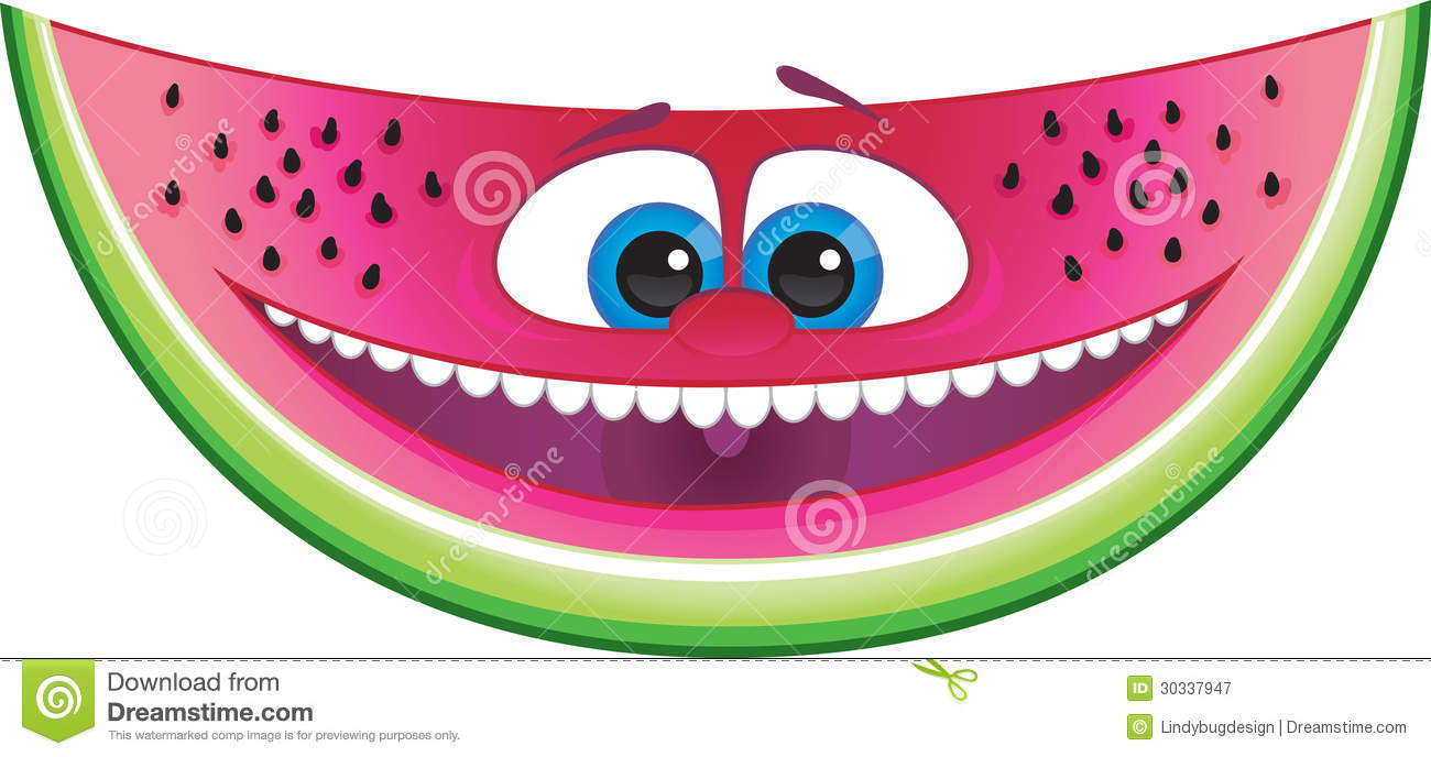 watermelon smile paperweight