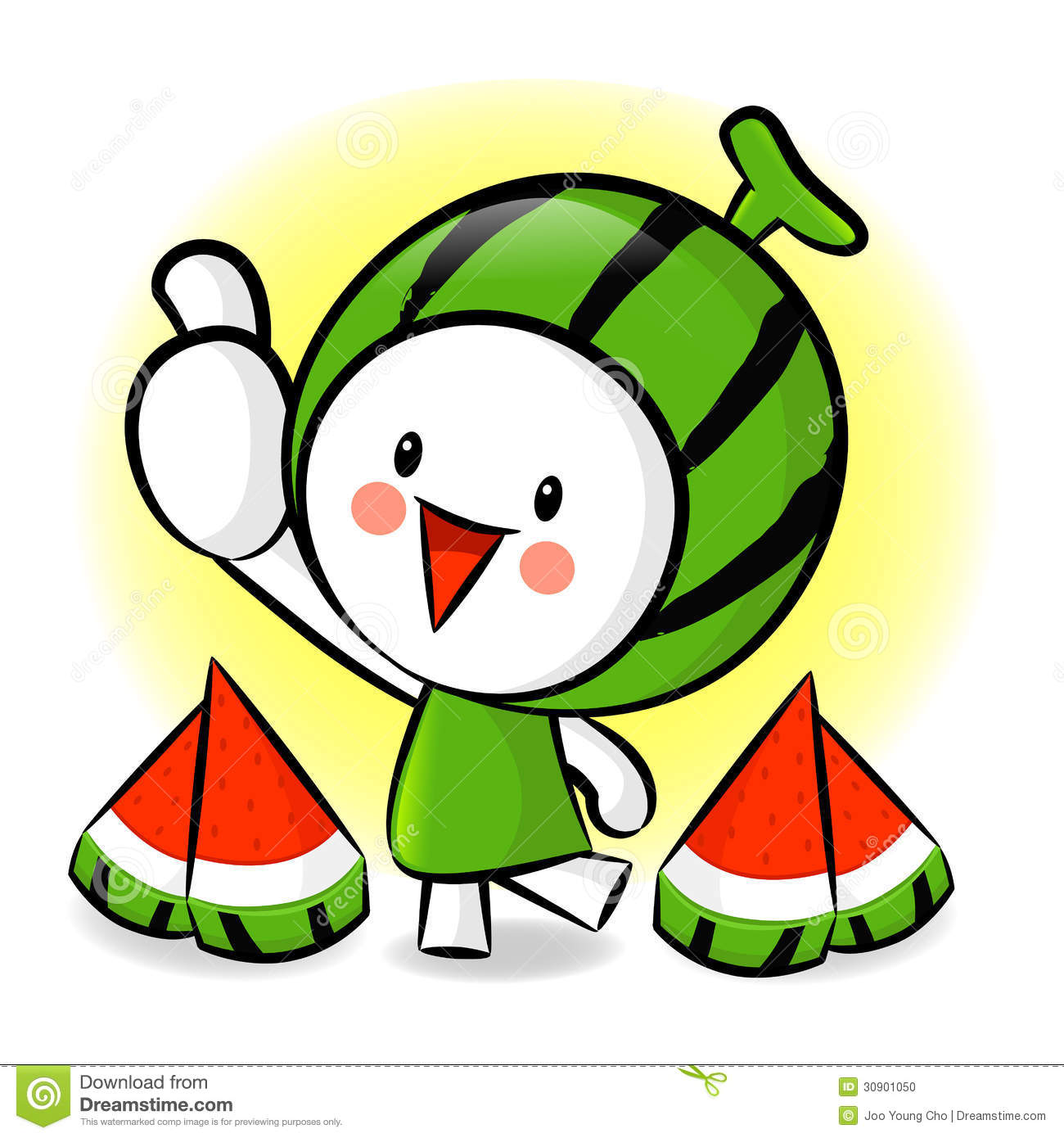 Watermelon characters to promote fruit selling  Fruit Character Design    Watermelon Cartoon Characters