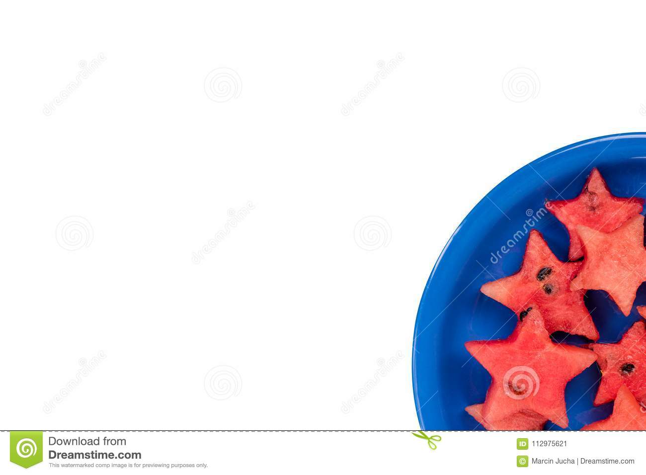 Watermelon creative star pieces, isolated