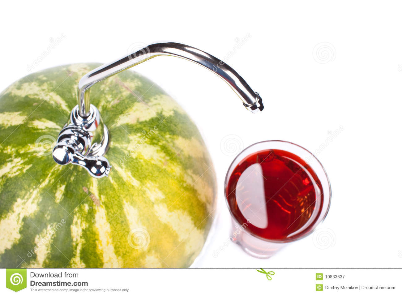 Watermelon with faucet stock image. Image of drink, food - 10833637