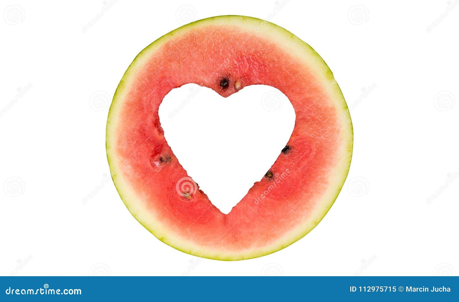 Watermelon hearth shape cut off