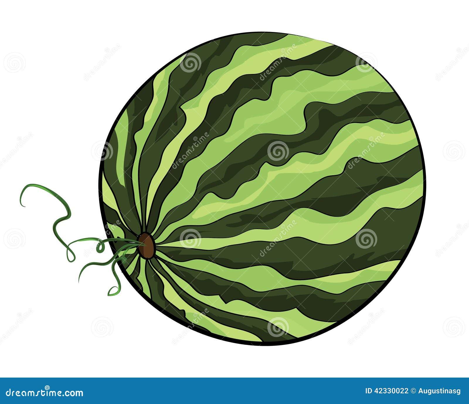 Illustration Of A Watermelon Cartoon Vector ...