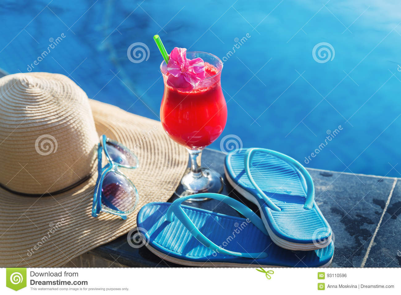 Watermelon Juice Smoothie Drink Glass Sunglasses Stock Photo Image 93110596