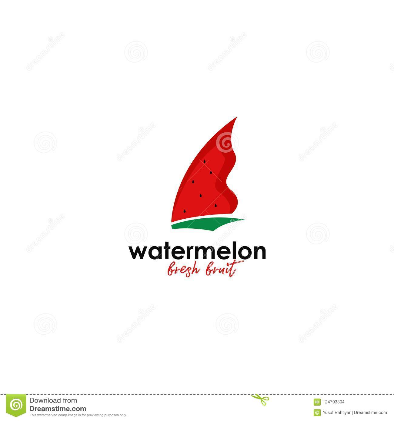 watermelon logo vector template logo template for your business