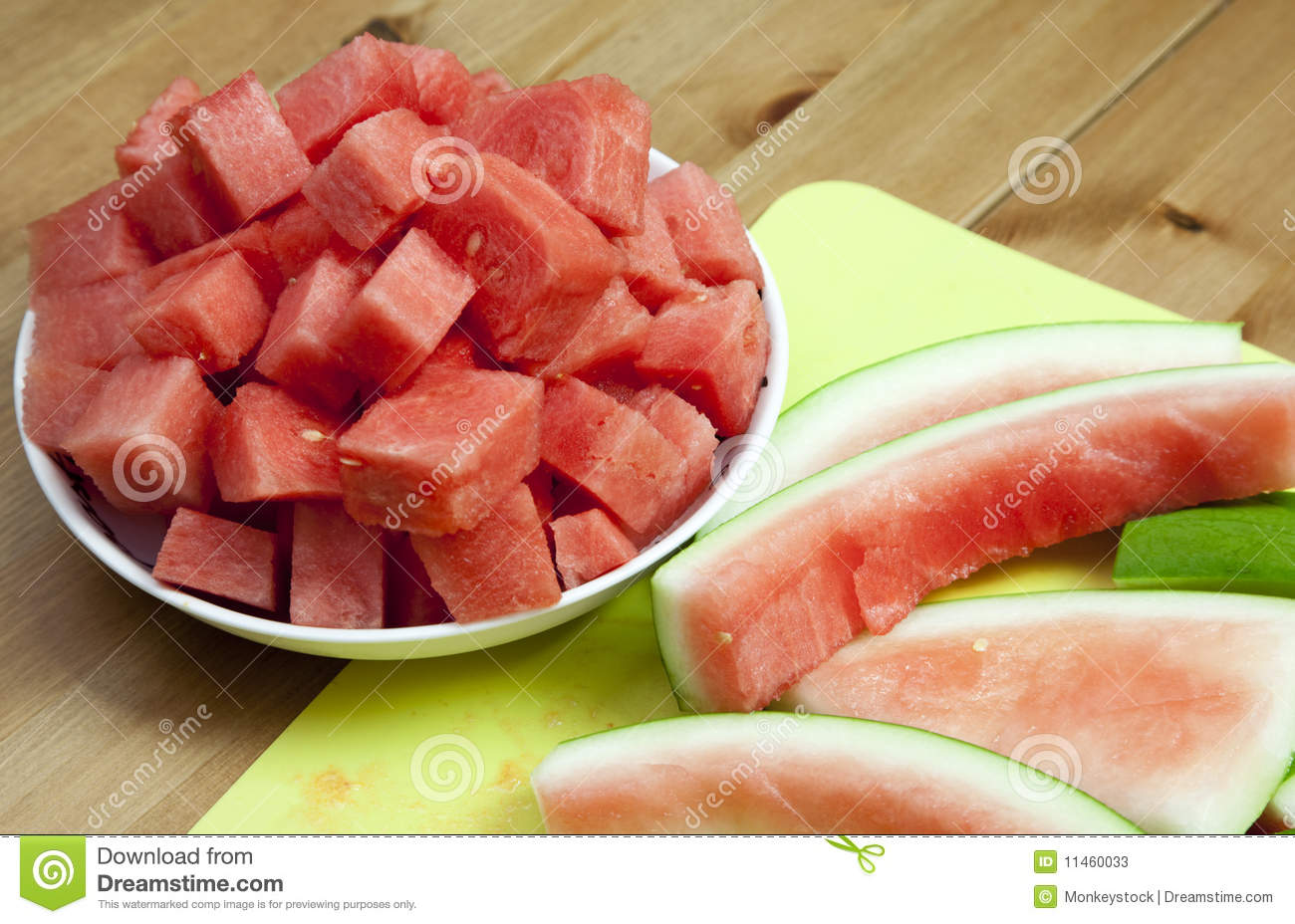 Watermelon and rind
