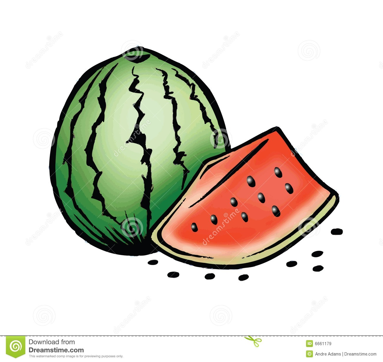 Watermelon And Seeds Royalty Free Stock Images - Image ...