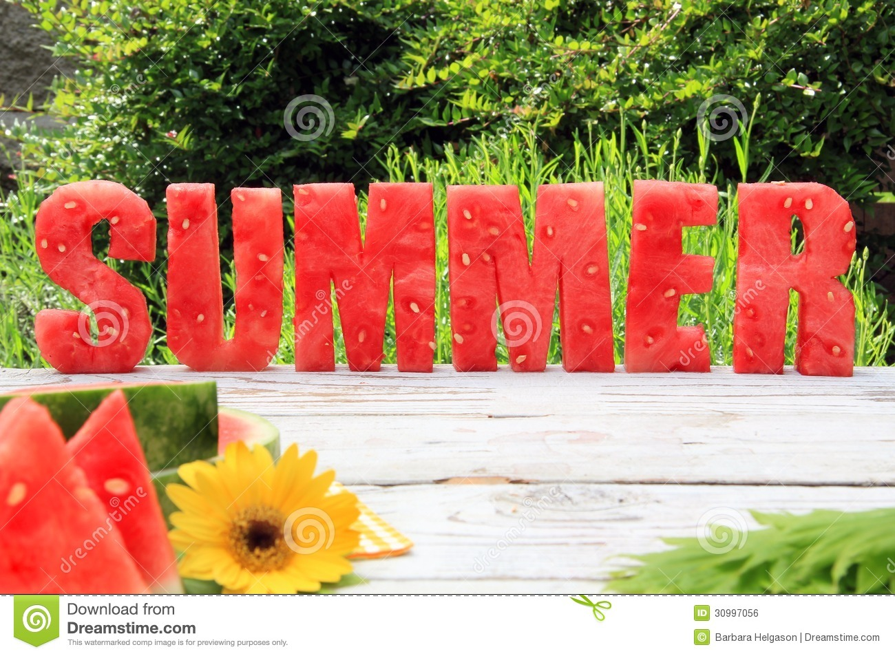 Watermelon Summer Royalty Free Stock Image - Image: 30997056