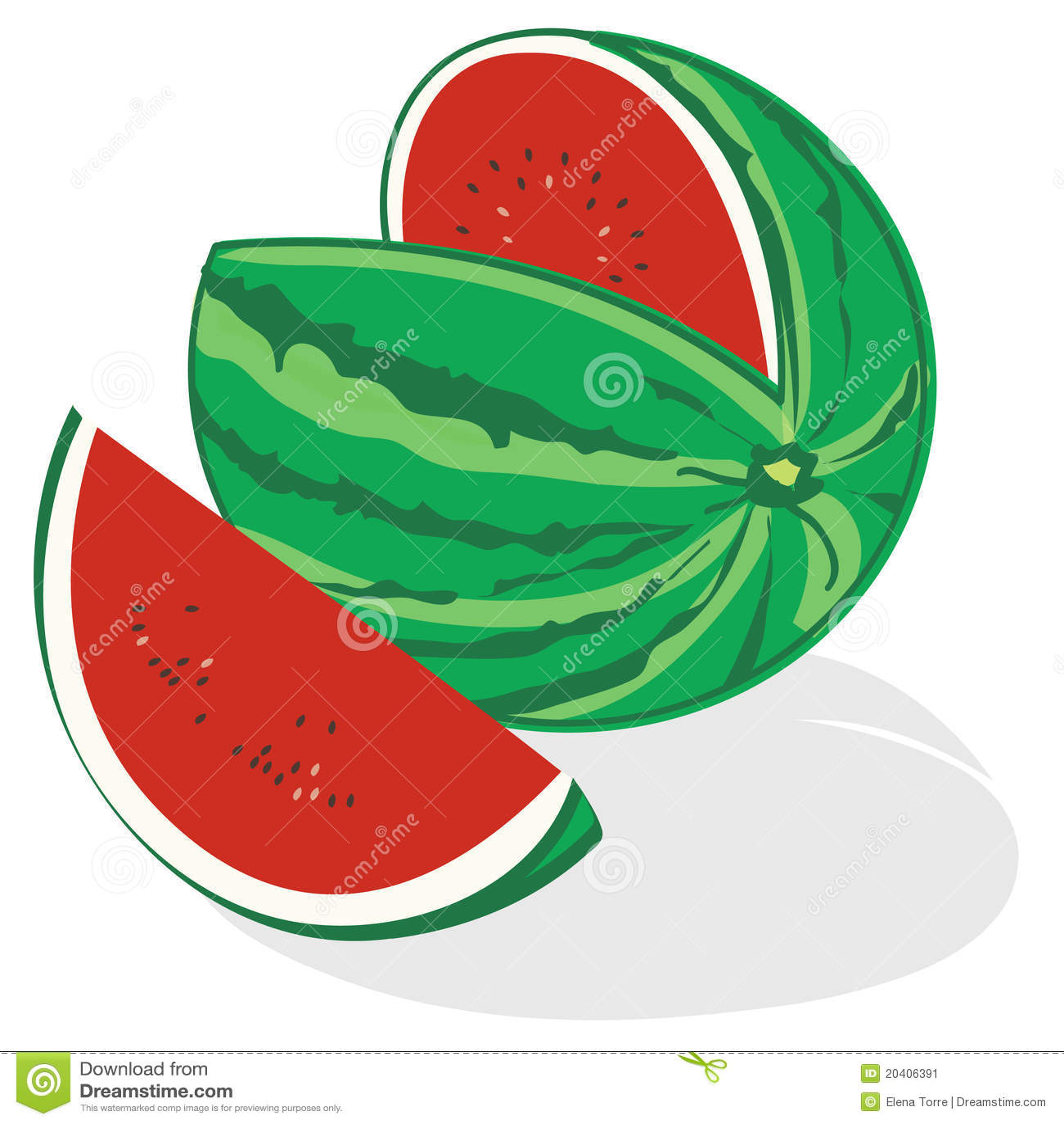 Watermelon Vector Stock Vector Illustration Of Health 20406391
