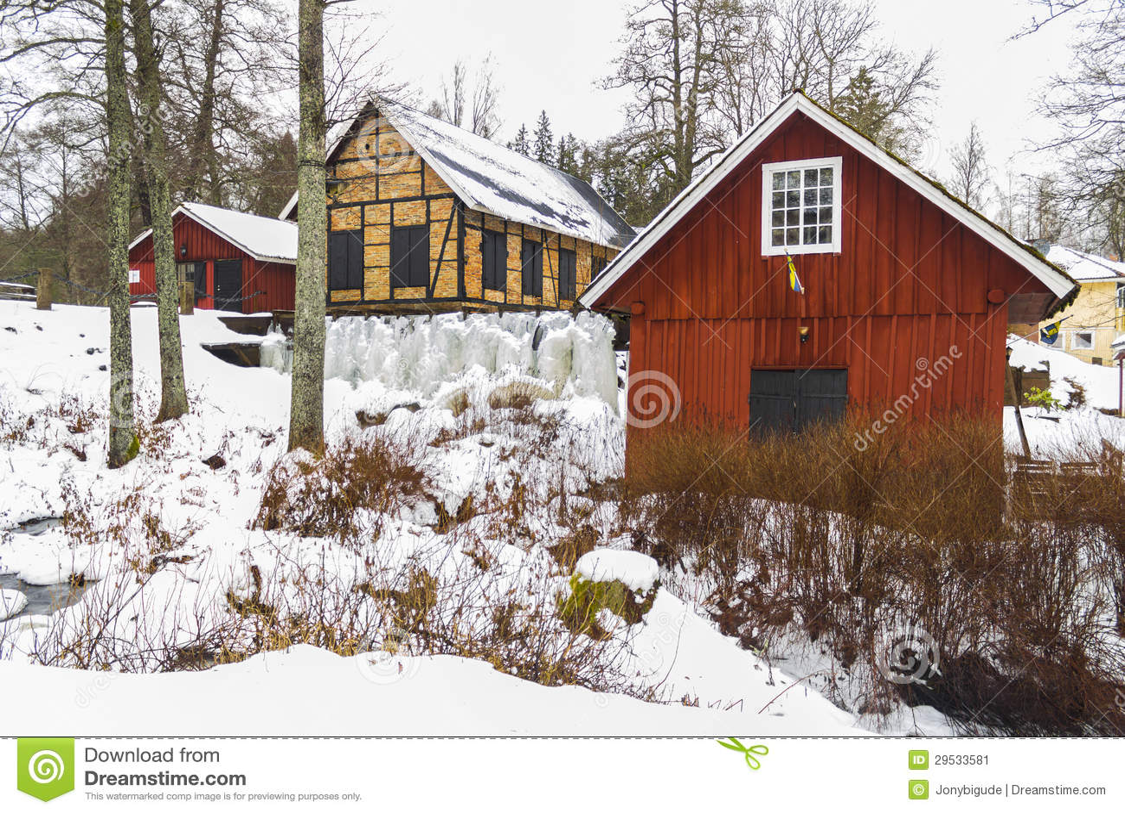Watermill em Marieholm, Sweden