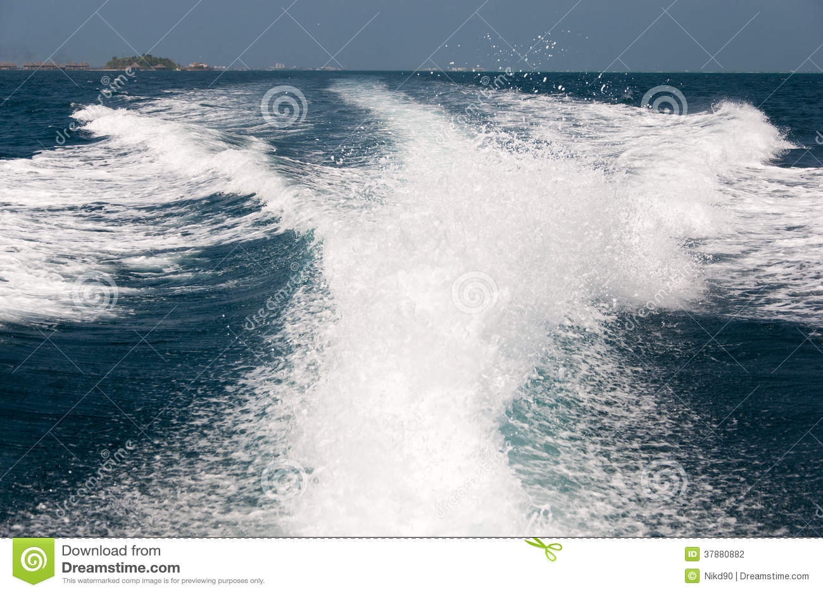 Waternevel van de rug van de snelheidsboot