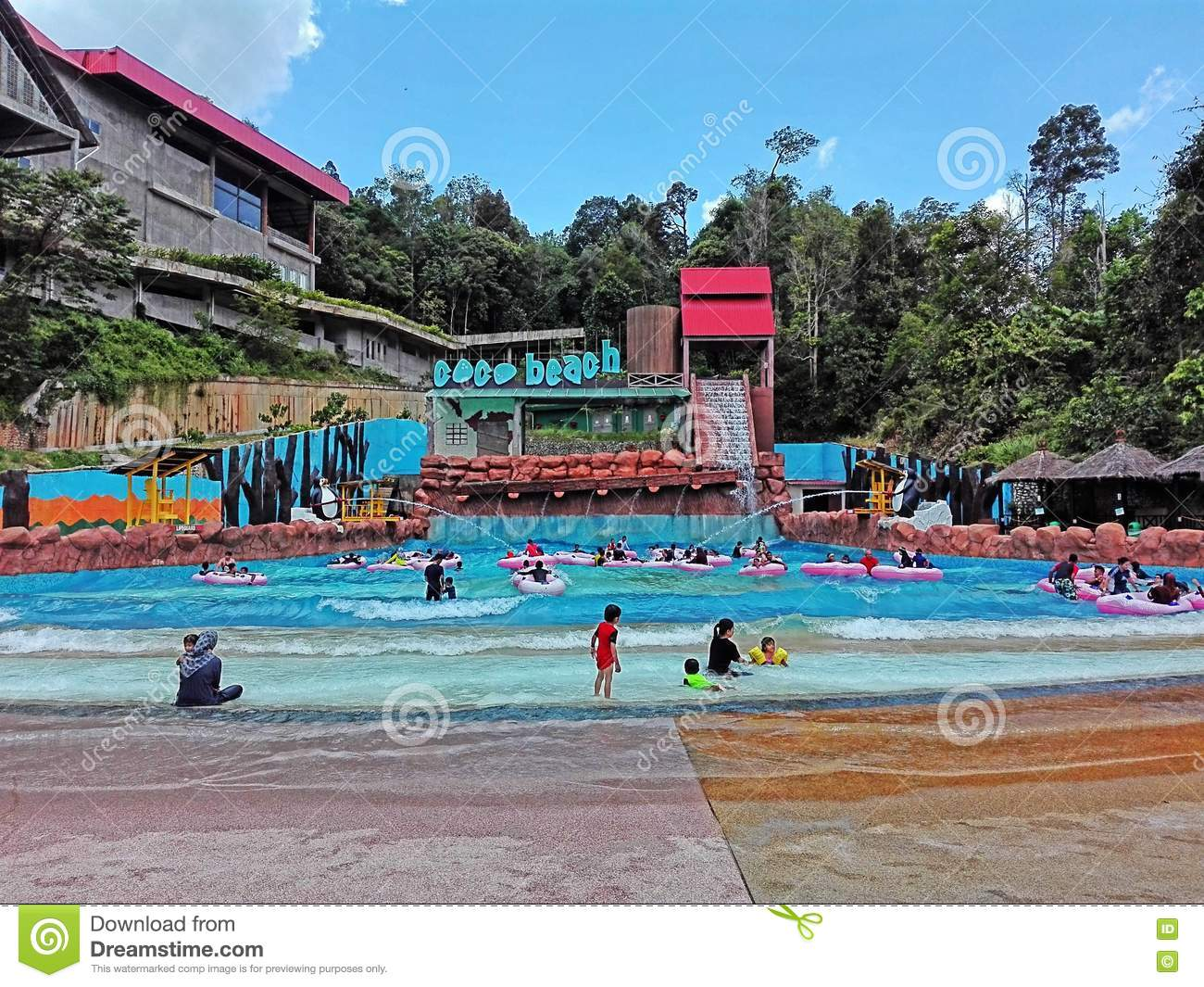 Waterpark editorial stock photo  Image of waterpark, coco