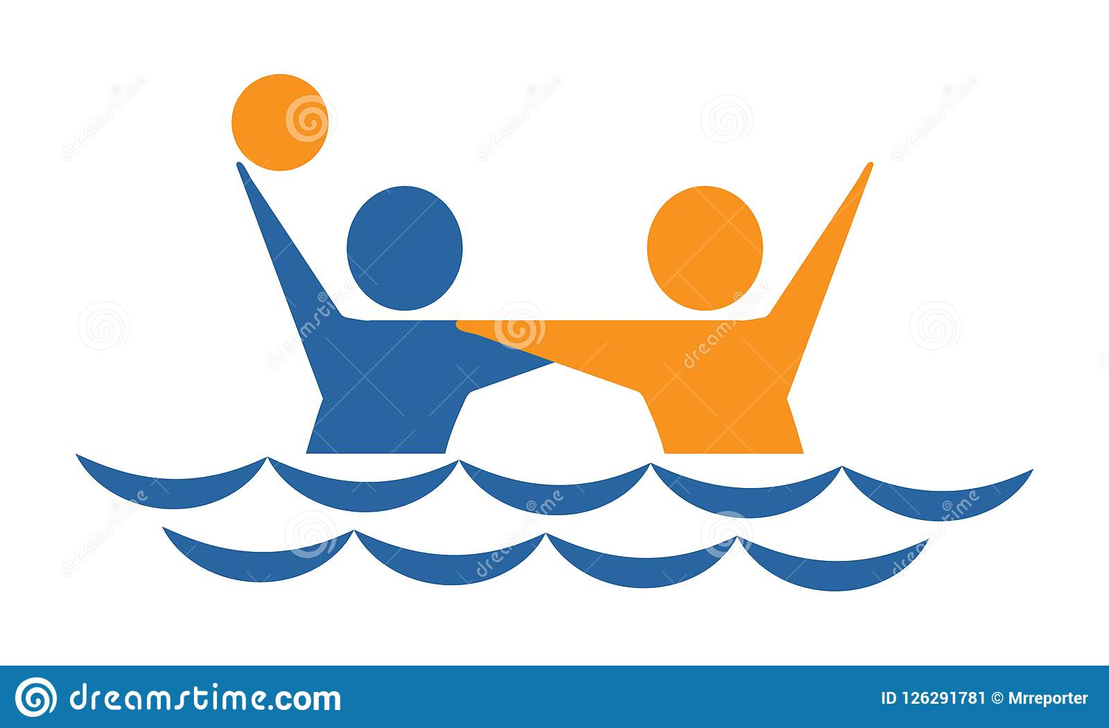 bc7be6f977453 Waterpolo stock illustration. Illustration of abstract - 126291781