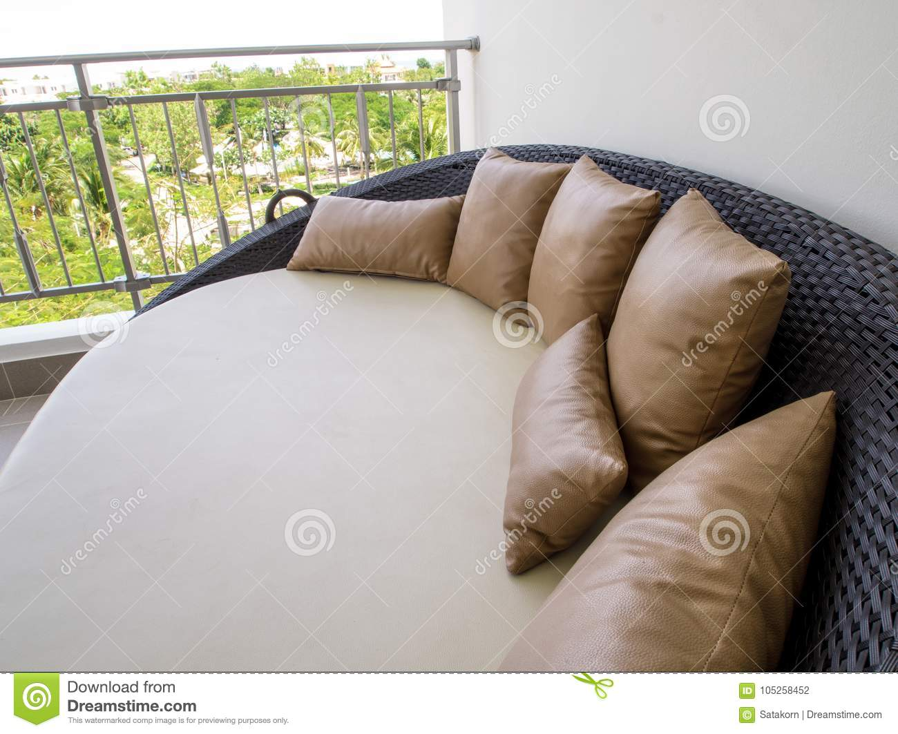 - Waterproof Outdoor Daybed At The Balcony Stock Photo - Image Of