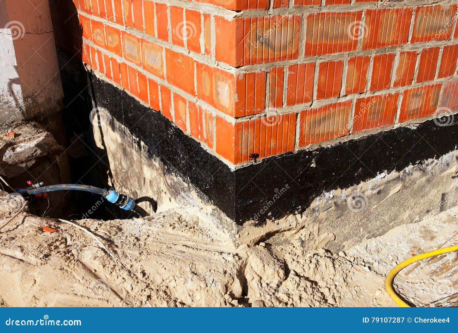 Foundation Damp Proofing Walls : Waterproofing foundation bitumen