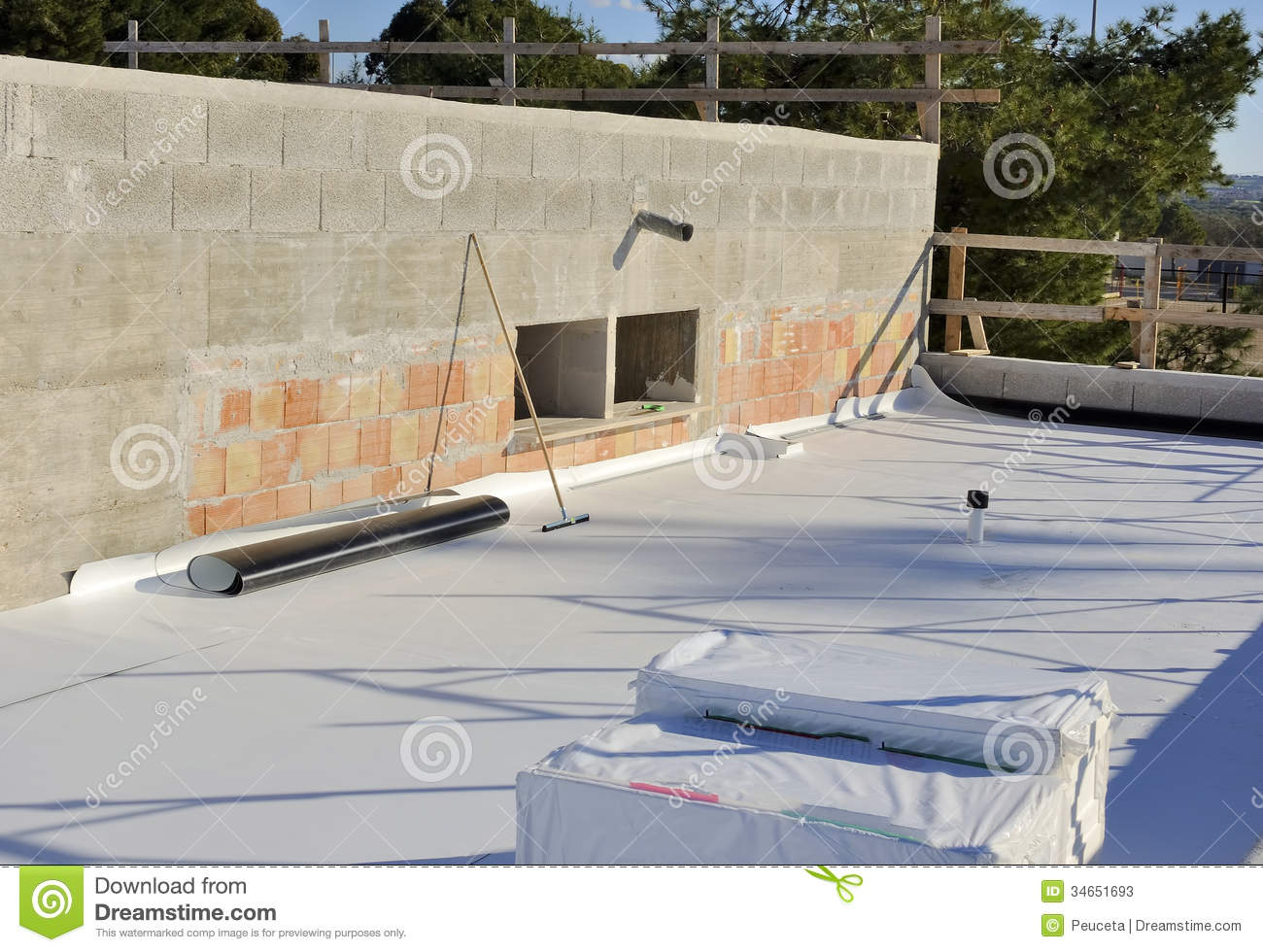 Waterproofing and insulation pvc terrace stock photos for Terrace waterproofing