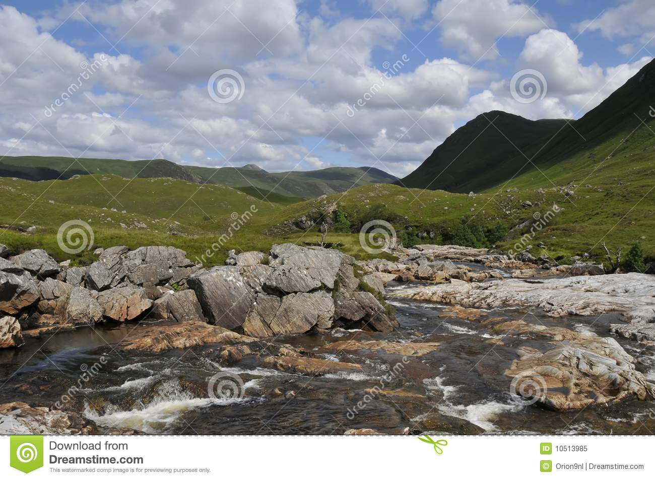 Waterstream landscape Scotland